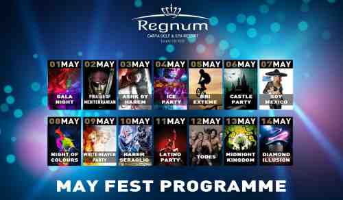 May Fest Programme от отеля Regnut Сarya Golf & Spa Resort, Belek
